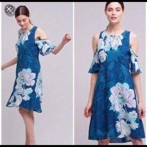 Anthropologie Maeve Cold Shoulder Dress, Size 6